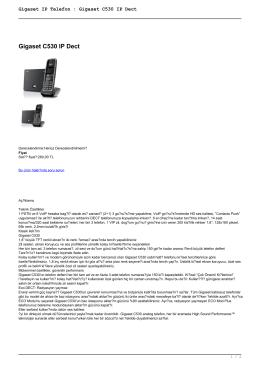 Gigaset IP Telefon : Gigaset C530 IP Dect