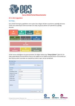 Sarus Klinik Portal Düzenlemeler