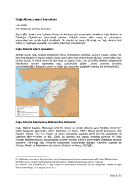 Doğu Akdeniz enerji kaynakları