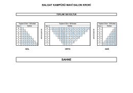 BALGAT KAMPÜSÜ MAVİ SALON KROKİ