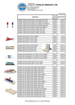 sarf malzeme fiyat listesi 032015