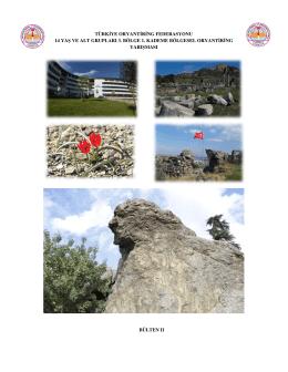 türkiye oryantiring federasyonu 14 yaş ve alt grupları 3. bölge 1