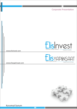 YAPIiNSAAT - ELIS Invest | Corporate Finance