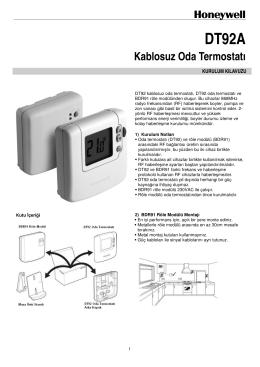 DT92 Kablosuz Dijital Oda Termostatı