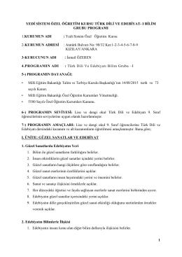 türk dili ve edebiyatı 1