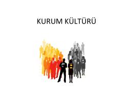 KURUM KÜLTÜRÜ