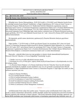 pdf İç Denetçi Aday Belirleme Sınavı