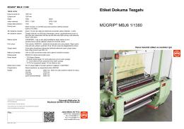 Etiket Dokuma Tezgahı MÜGRIP® MBJ6 1/1380