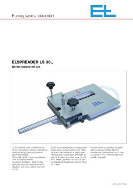 Kumaş yayma sistemleri ELSPREADER LS 30..