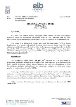 Turkçe Antetli Kağıt - Ege İhracatçı Birlikleri