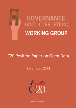 C20 Open Data Position Paper