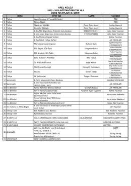 8. Sınıf Matematik Soru Bankası AREL KOLEJİ 2015