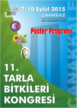 Poster Programı - 11. Tarla Bitkileri Kongresi