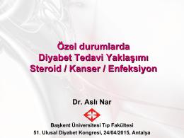 Steroid/ kanser - Türk Diabet Cemiyeti