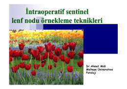 Intraoperatif Sentinel Lenf Nodu Örnekleme Teknikleri (Dr