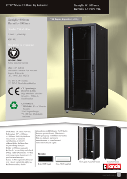 """19"""" DYNAmic TX Dikili Tip Kabinetler W800xD1000mm Pdf"""