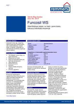 Funcosil WS teknik bilgi