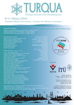 8-11 Mayıs 2016 - Avrasya Yer Bilimleri Enstitüsü