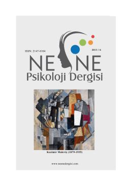 Tam Metin - Nesne - Psikoloji Dergisi
