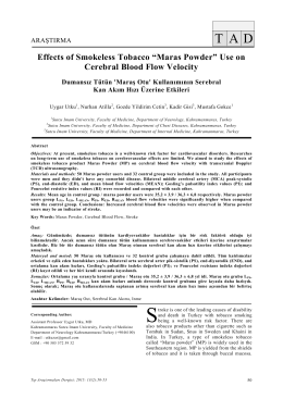 """Maras Powder"" Use on Cerebral Blood Flow Velocity"