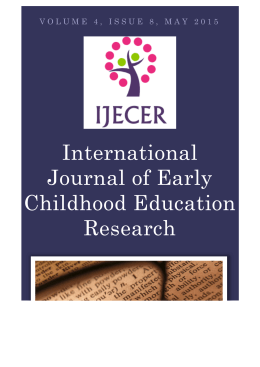 International Journal of Early Childhood Education Research