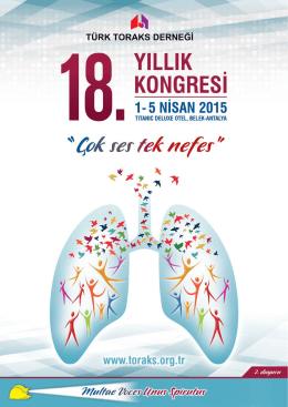 bilimsel program - Türk Toraks Derneği 18. Yıllık Kongresi