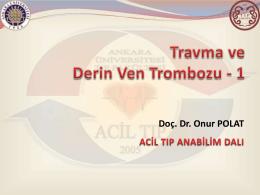 travma ve derin ven trombozu 1