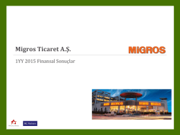 1YY 2015 Migros Yatırımcı Sunumu