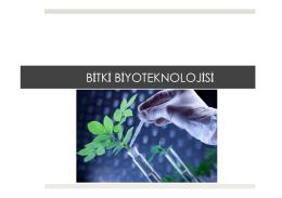 BÖLÜM 10: Bitki Biyoteknolojisi