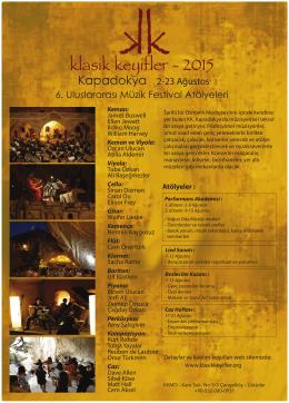 Kapadokya 2-23 Ağustos 6. Uluslararası Müzik Festival - KK-TR