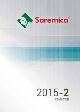Saremica Fiyat Listesi 2015/2