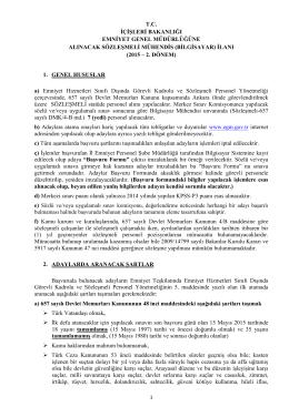 Sözleşmeli(Mühendis) - Emniyet Genel Müdürlüğü