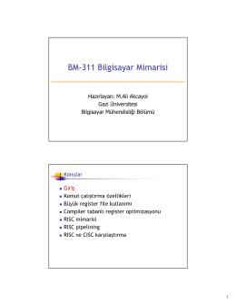 BM-311 Bilgisayar Mim arisi