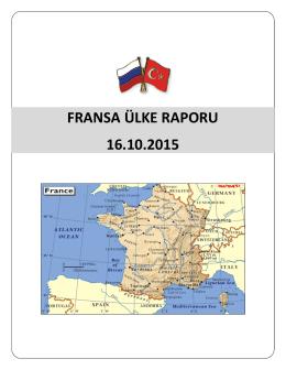 FRANSA ÜLKE RAPORU - Bursa Ticaret ve Sanayi Odası