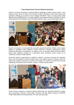 7. Orta Anadolu Kariyer Zirvesi Kırıkkale`de düzenlendi Ajansımız