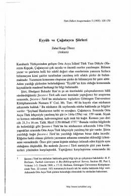 (Ankara) Karahanlı Türkçesinden gelişen Orta Asya İslamı Türk Yazı