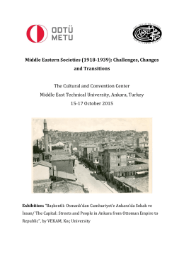Middle Eastern Societies (1918-1939): Challenges, Changes and