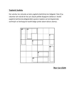 Toplamlı Sudoku İlker Can ÇİÇEK