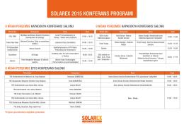 solarex 2015 konferans programı