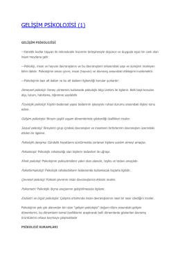 GELİŞİM PSİKOLOJİSİ (1)