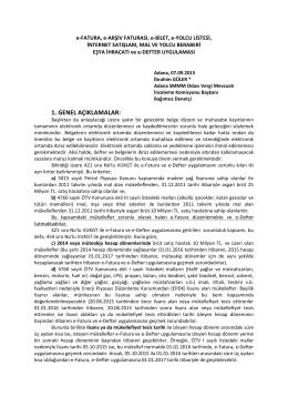1. genel açıklamalar - Adana Serbest Muhasebeciler Odası