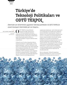 Türkiye`de Teknoloji Politikaları ve ODTÜ TEKPOL