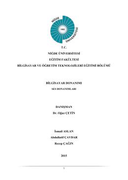 Ders Notu - Dr. Oğuz Çetin