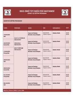 2015 Sekreter Eğitim Programı