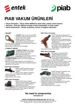 Piab Kataloğu - Entek Otomasyon