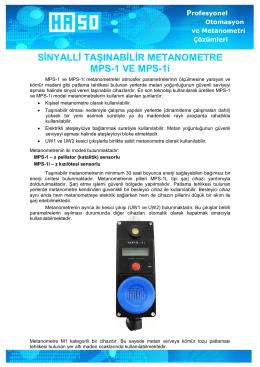 SİNYALLİ TAŞINABİLİR METANOMETRE MPS-1 VE MPS-1i