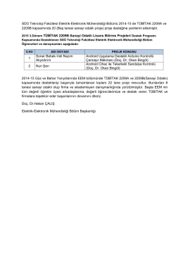 SDÜ Teknoloji Fakültesi Elektrik-Elektronik Mühendisliği Bölümü