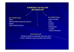 6-) Karbonatlar