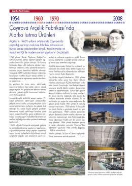 Çayırova Arçelik Fabrikası`nda Alarko Isıtma Ürünleri
