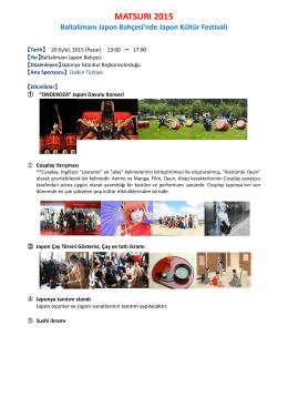 MATSURI 2015 - Japonya Başkonsolosluğu, İstanbul